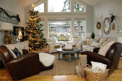Our Christmas Living Room {christmas Home Tour Day 1 Cowboy Christmas Tree Skirt Norway Pine Artificial How To Make A Burlap Bradford Topper Pink Bottle Brush Trees Northeast Farm Hatfield Ma Spode Cookie Jar Criss Cross Ribbon On