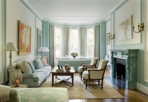 pale blue living room   boston brownstone interiors