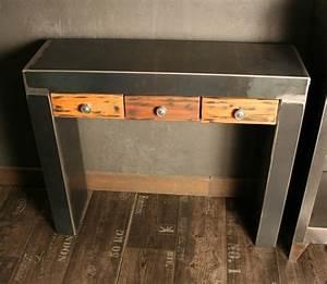 Console Metal Et Bois : comment choisir son meuble console espace architectes et immobiliers ~ Teatrodelosmanantiales.com Idées de Décoration