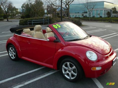 volkswagen beetle red convertible 2005 volkswagen new beetle gls 1 8t convertible in tornado