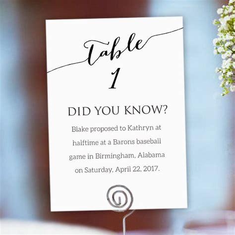 fun facts wedding fun facts wedding cards table