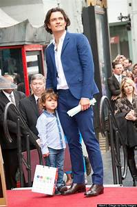 Orlando Bloom's Son Steals The Spotlight At Actor's Walk ...