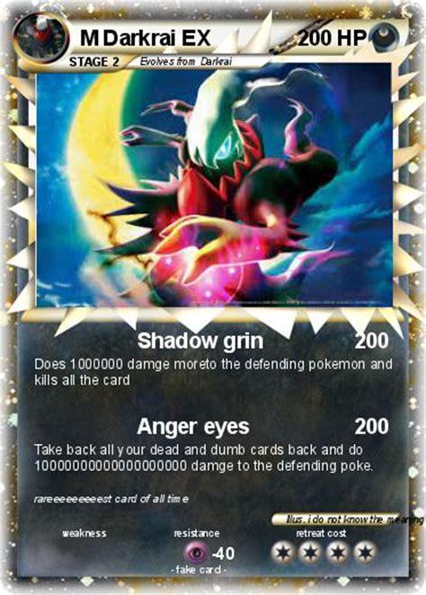 pokemon  darkrai    shadow grin  pokemon card