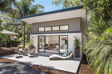 image result  guest house pool cabana skillion roof