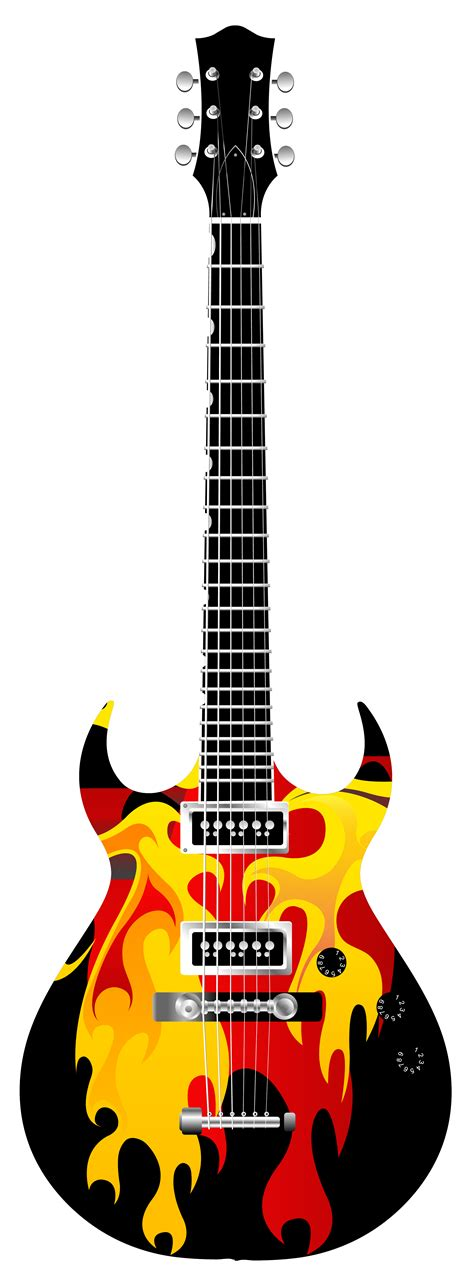 flame electric guitar png clipart  web clipart