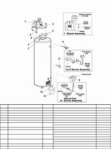 Rheem Hot Water Heater 630007 Manual