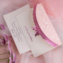 pink wedding invitations beautiful deco embossed tri fold budget white and pink wedding invitation sets ewri014 as