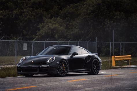 black porsche 911 turbo black porsche 911 turbo s adv5 0 m v2 cs series wheels