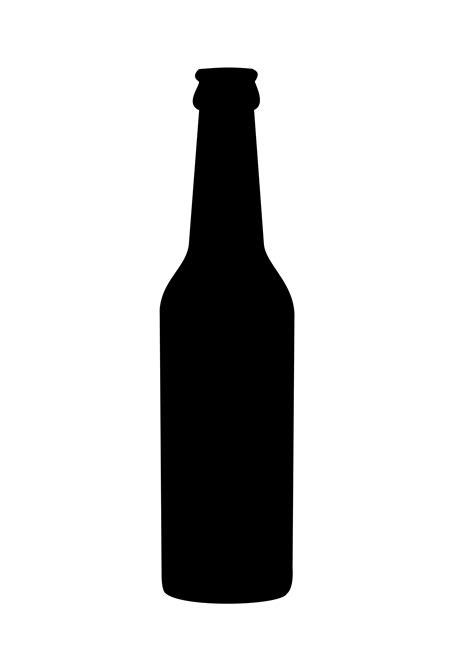bottle brush clipart neck bottle silhouette