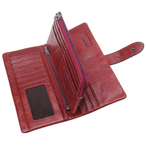 women wallet luxury brand genuine leather long female