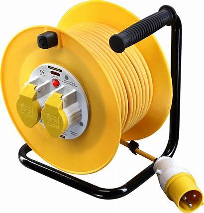 Reel Cable 110v Electrical 50m Bg Yellow