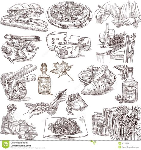 illustration cuisine food and drink royalty free stock images image 32775029