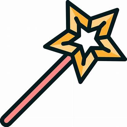 Wand Magic Icon Star Witch Wizard Magician