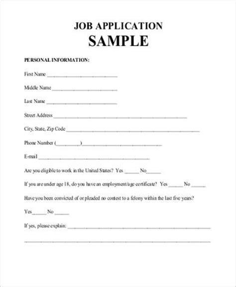 sle job application form in pdf 9 exles in pdf