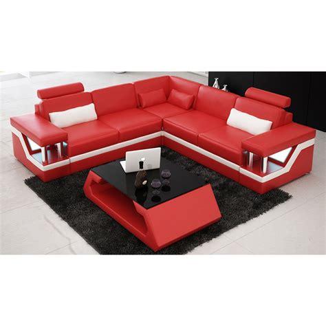 canapé l canapé d 39 angle design en cuir véritable tosca l lit