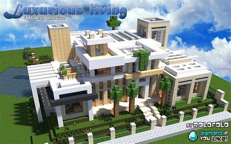 plan maison minecraft de luxe ventana