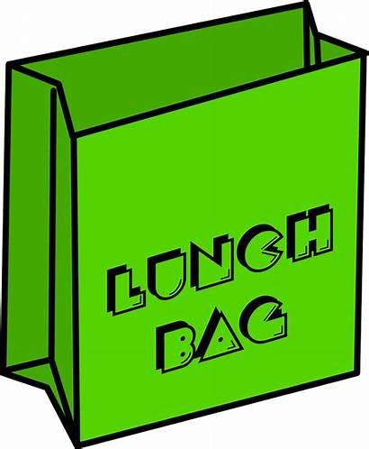 Lunch Empty Box Clipart Cartoon Bag Clip