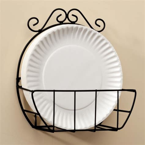 miles kimball wire paper plate holder lends style  convenience   kitchen  paper