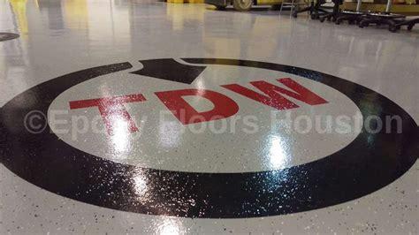 Custom Decals in Epoxy Flooring in Houston, TX