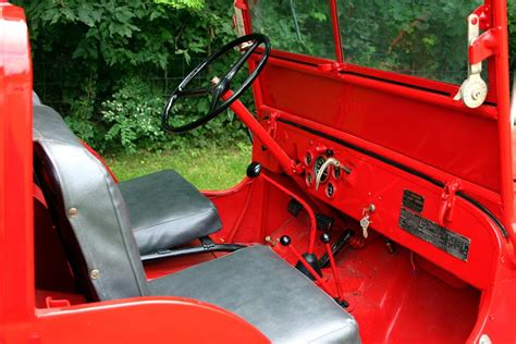 willys jeepster interior 1949 willys jeep cj2a fire truck 66146