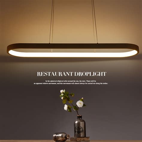 oval shape 1200mm length modern led pendant lights for