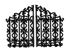 porte clé iron free of wood iron gate vector graphics and