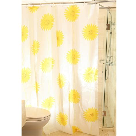 Yellow And White Curtains Walmart by Yellow Color Beautiful Sunflower Shower Curtain