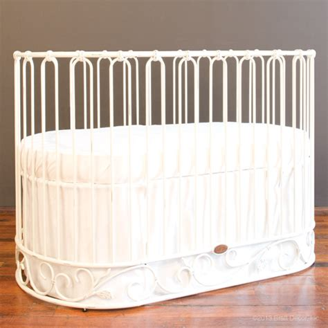 Bratt Decor Crib Satin White by Jadore Crib Cradle Distressed White