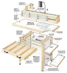 hobby bench woodsmith plans hobby workspace