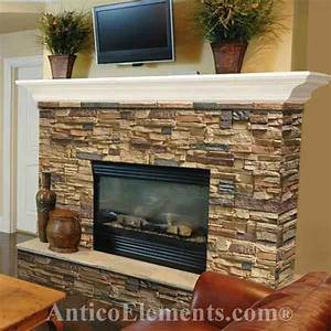 Stone fireplace design and remodel for Faux stone fireplace remodel