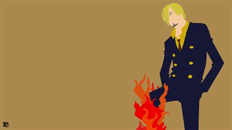 minimalist sanji  piece wallpaper