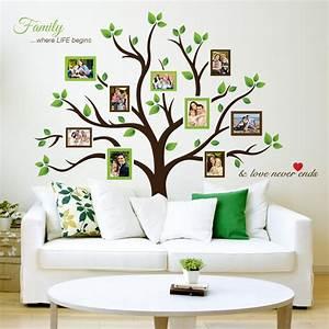 astounding ideas family tree wall decor decal awesome with With awesome family tree wall decal with frames