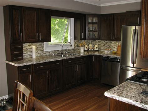 Kitchen Backsplash Ideas With Dark Oak Cabinets