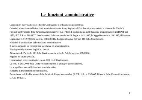 diritto amministrativo dispense cosa sono le funzioni amministrative