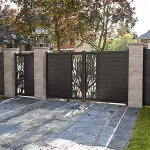 Cloture Aluminium Castorama : portail en aluminium idaho noir castorama divers elka ~ Melissatoandfro.com Idées de Décoration