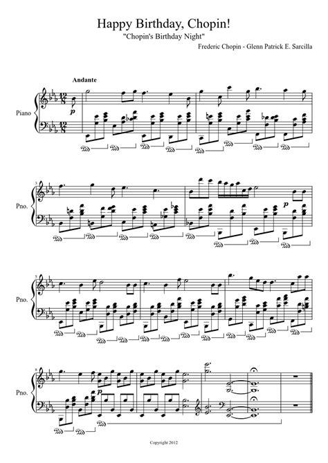 The piano keys 127 712 views. Happy Birthday, Chopin! | Piano sheet music, Sheet music, Happy birthday