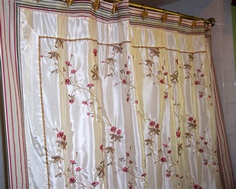 Croscill Curtain. Croscill Rose Garden Fabric Shower