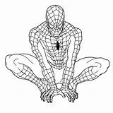 Spiderman Coloring Drawing Printable Spider Ultimate Line Pdf Colour Sheets Getdrawings Amazing sketch template