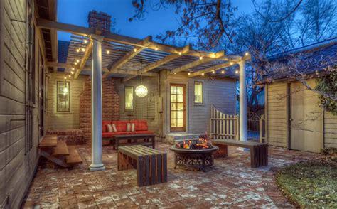 pergola  fire pit backyard designs designing idea
