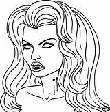 Vampire Coloring Pages Draw Vampires Halloween Drawing Anime Step Printable Sheets Dracula Dragoart Colouring Sheet Coloriage Adults Cartoon Adult Library sketch template