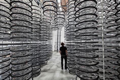 stacked sculpture stacked by ai weiwei 760 stacked bicycles at galleria continua colossal