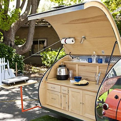 cer trailer kitchen ideas teardrop trailers hitch a tiny kitchen to your car the