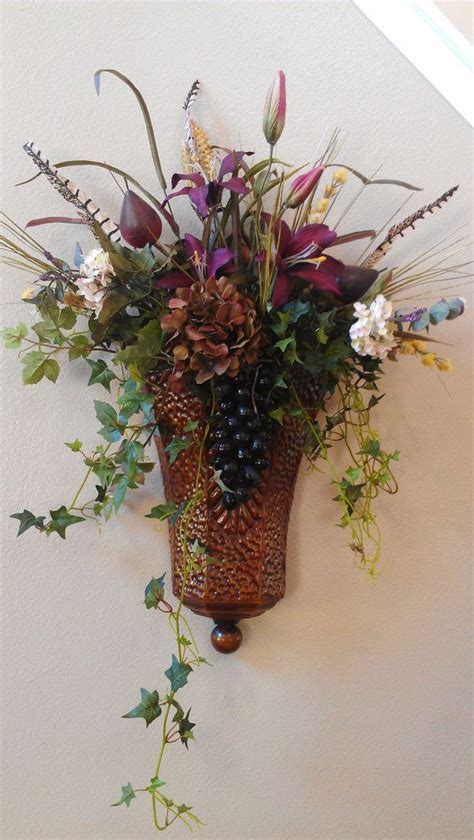 Wall Flower Sconces by Fruit And Floral Sconce By Sunsetsilks On Etsy 78 00