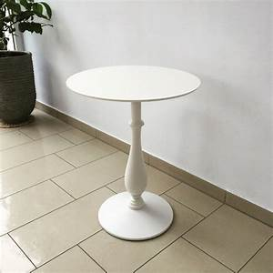Tisch Rund Weiß : barocktisch wei tisch rund wei bistrotisch rund wei durchmesser 60 80 cm ~ Markanthonyermac.com Haus und Dekorationen