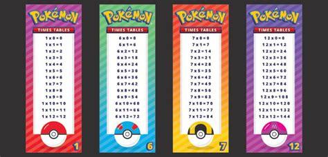 pokemon times tables paperzip