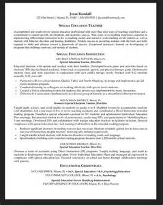resume for education assistant special needs special education assistant resume resumes design