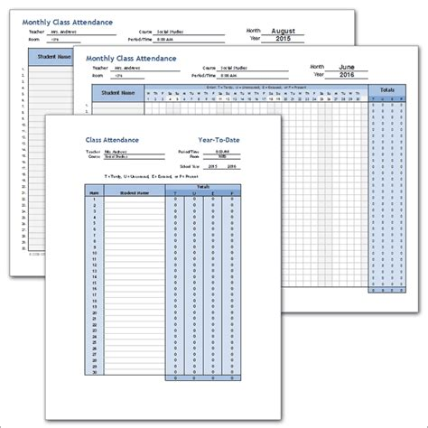 c template class exle 25 printable attendance sheet templates excel word utemplates