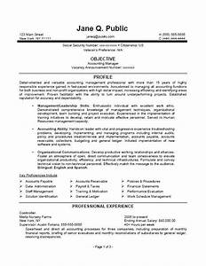 accounting manager resume accounting manager federal With federal resume template
