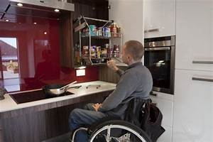 white gloss kitchen by access matters design matters With kitchen design for wheelchair user