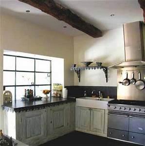decoration cuisine a l39ancienne With modele de cuisine ancienne